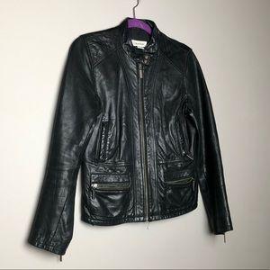 Vintage Calvin Klein real leather bomber jacket